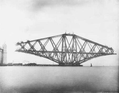 Image of Forth Rail Bridge under construction, National Records of ScotlandBR-FOR-4-34-5