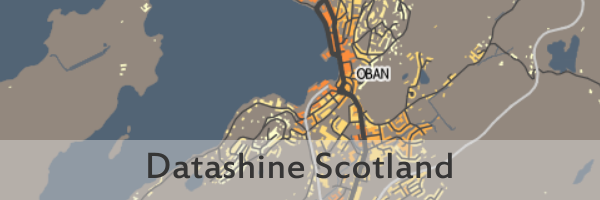Link takes you to the Datashine Scotland interactive maps on the Datashine Scotland website