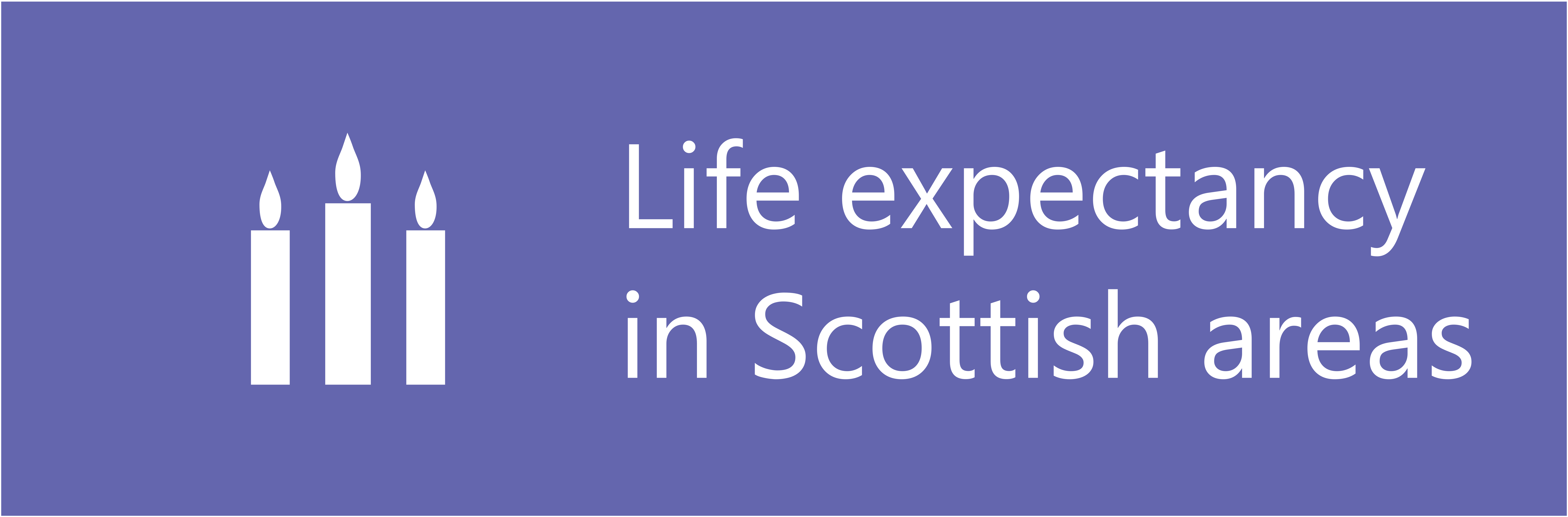 Links to Life Expectancy for Scottish Area, 2015-17 infographic