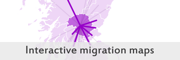 Link to Internal Migration in Scotland, year ending 30 June 2016 visualisation on the Scotland's Census website
