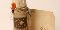 Photo of vial of arsenic poison