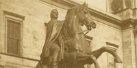 Detail of GD45-26-116 showing the Wellington statue, c 1850s.