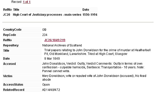 High Court Criminal Trials National Records Of Scotland